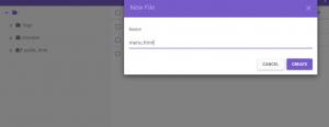 Capture du création de file manager