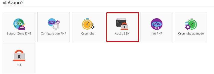 acces ssh hostinger