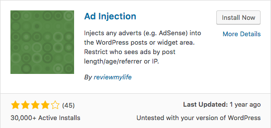 ad injection wordpress plugin