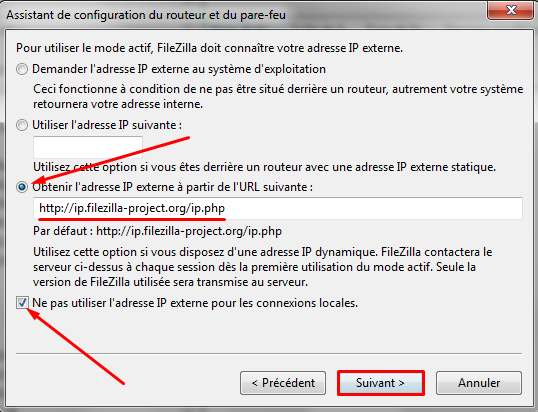 adresse ip externe filezilla