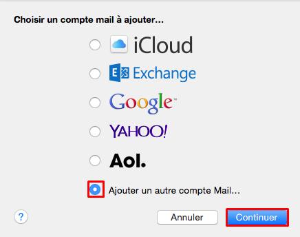 ajouter autre compte mac mail