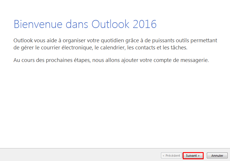 Configurer email outlook 1
