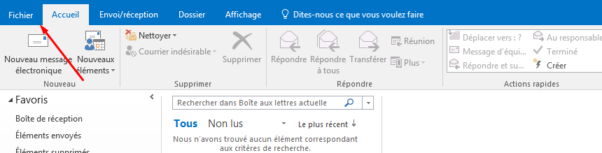 configurer email outlook facultatif