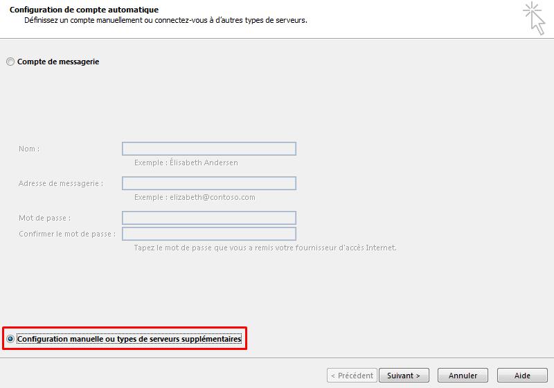 Configurer email outlook 3