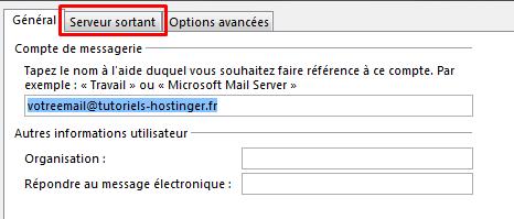 Configurer email outlook 9