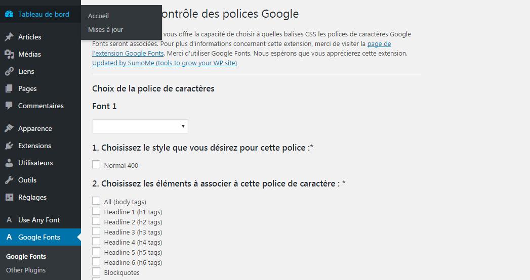 google fonts plugin wordpress