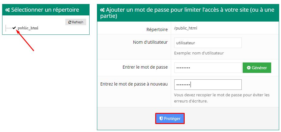 proteger public html hostinger