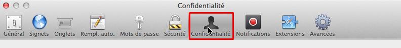 safari confidentialite