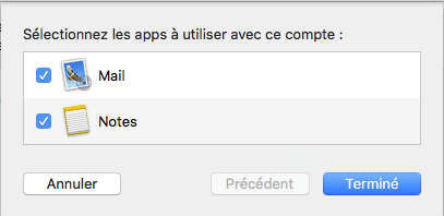 selectionner apps à utiliser mac mail