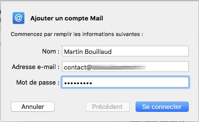 ajouter un compte mac mail