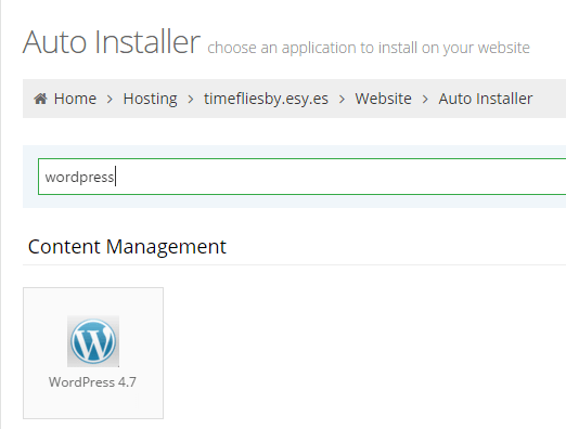 auto installateur wordpress hostinger