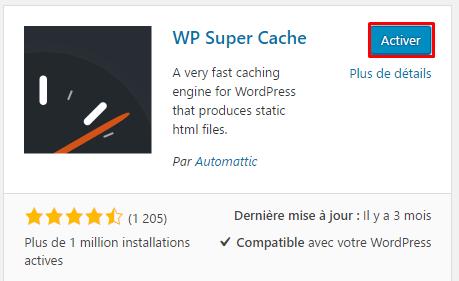 activer plugin wordpress