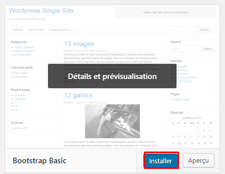 bootstrap basic theme wordpress