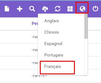 choisir langue hostinger