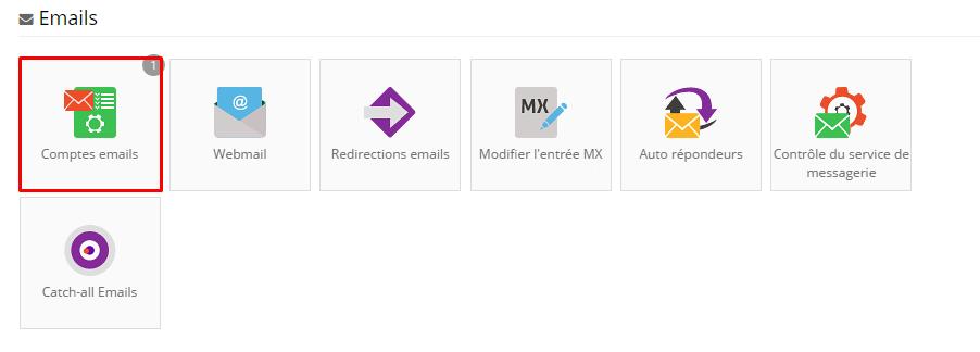 comptes emails hostinger