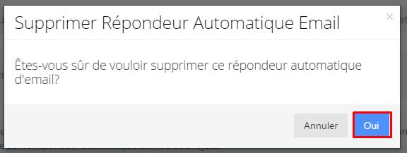 confirmation-suppression repondeur automatique