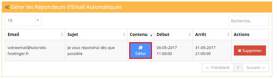 editer repondeur automatique