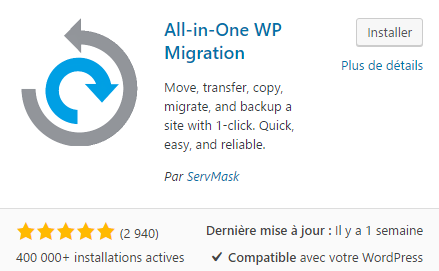 installer wp migration wordpress