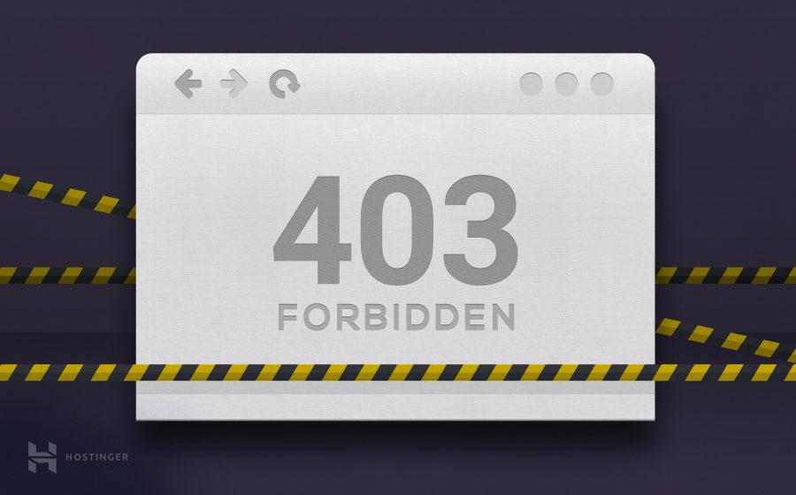 erreur 403 forbidden http wordpress