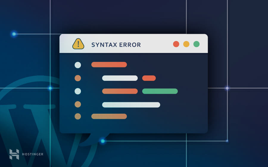 reparer syntax error wordpress