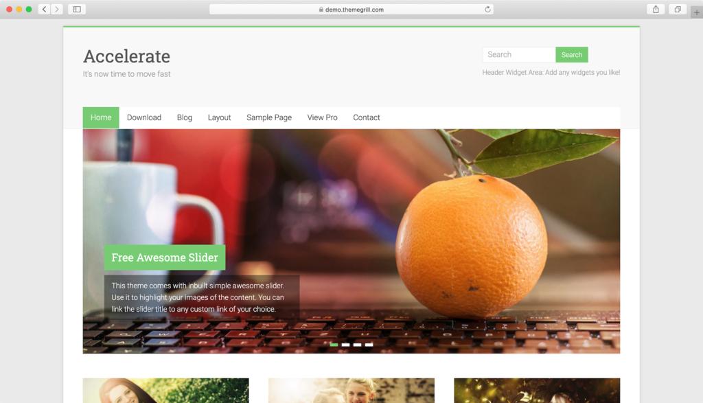 Thème WordPress Accelerate.