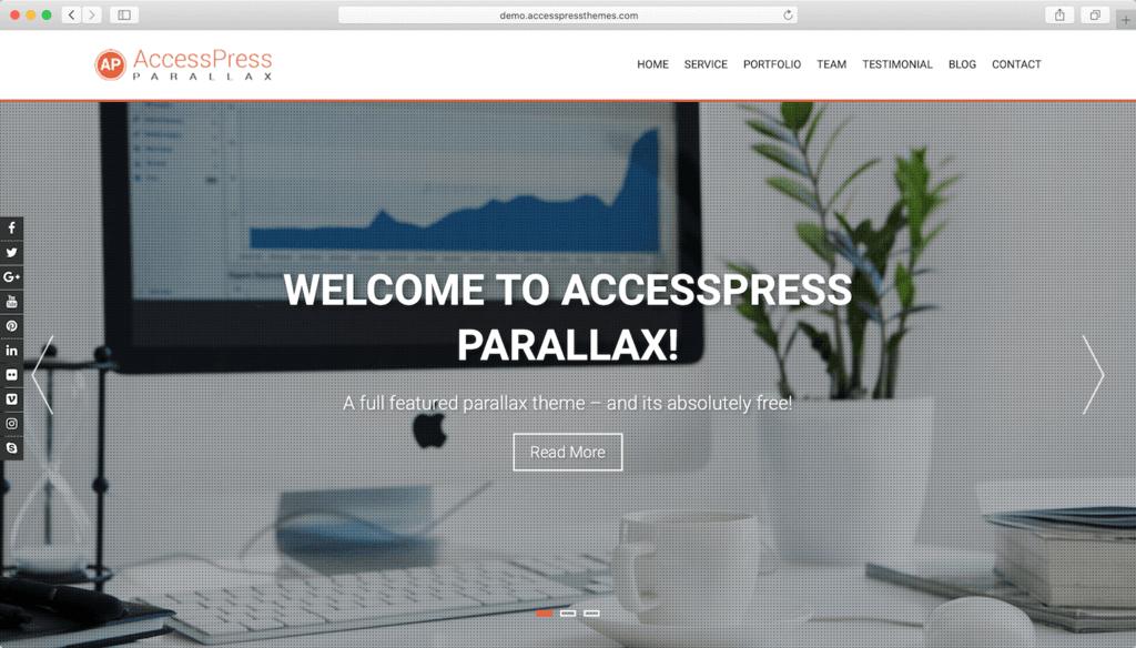 Thème WordPress AccessPress Parallaxt.
