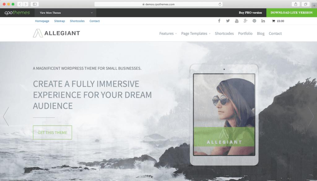 Thème WordPress Allegiant.