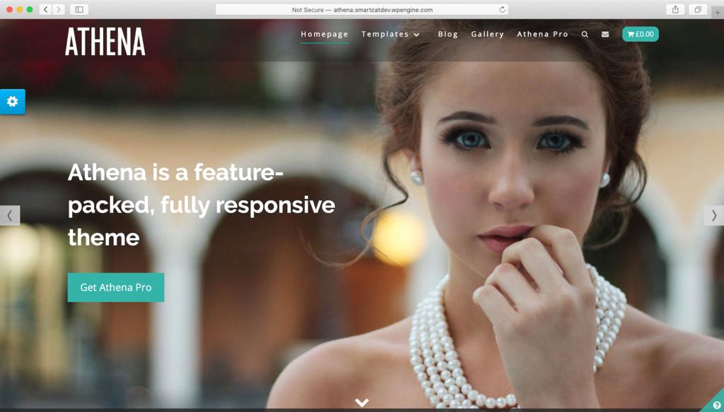 Thème WordPress Athena.