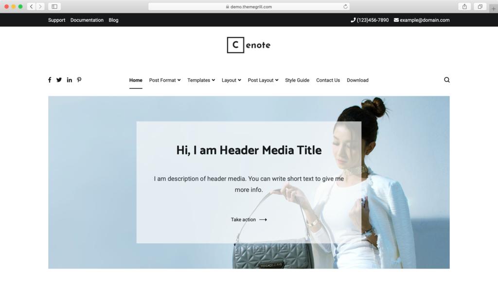 Thème WordPress Cenote.