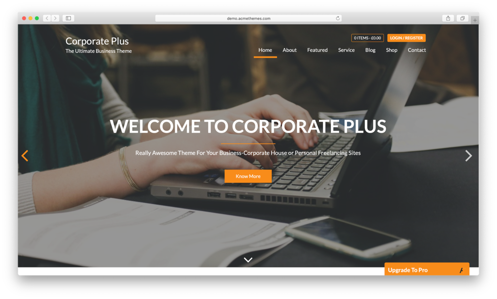 Thème WordPress Corporate Plus.