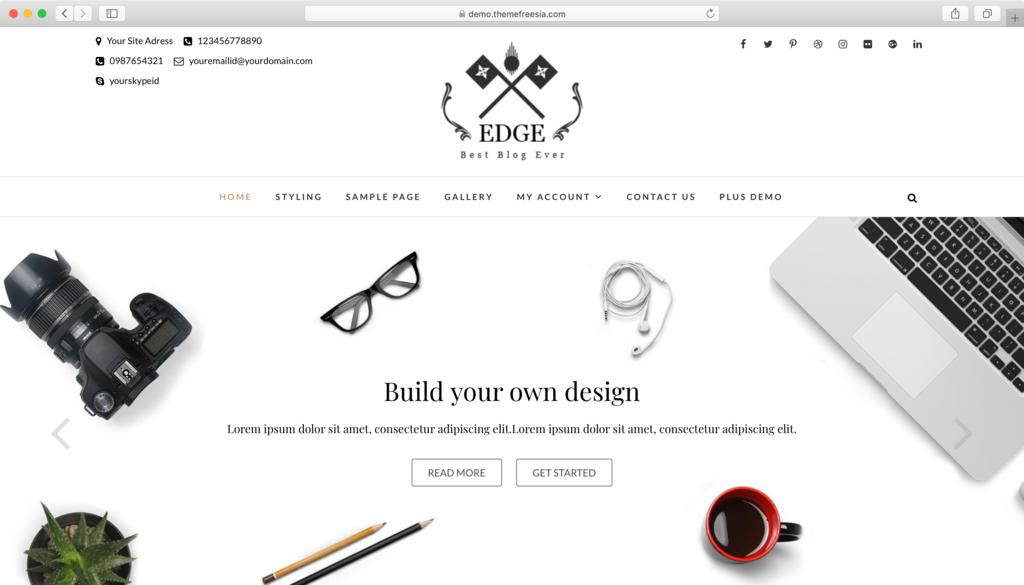 Thème WordPress Edge.