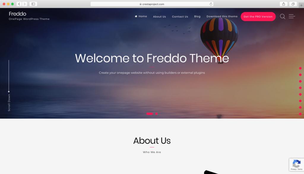 Thème WordPress Freddo.