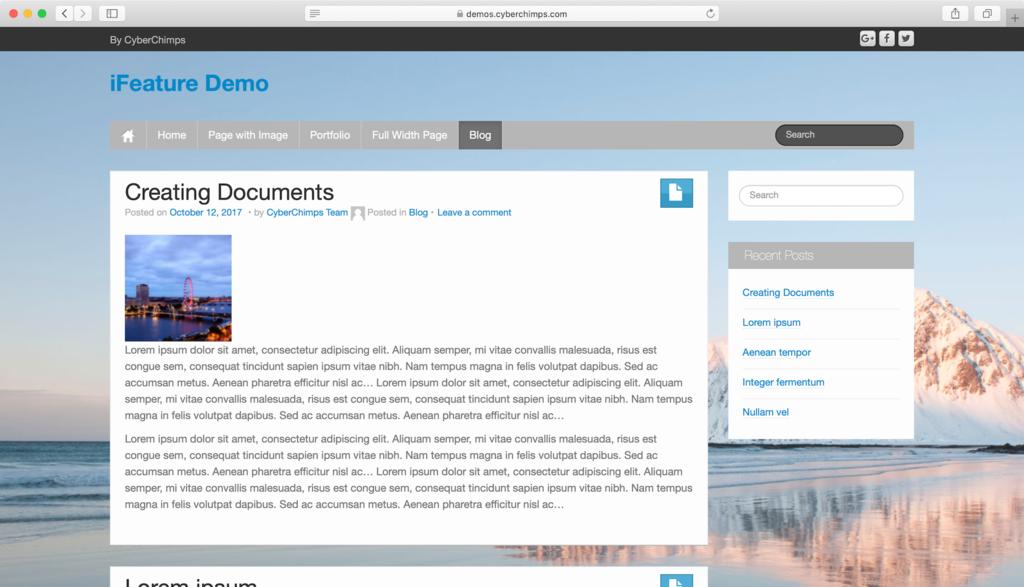 Thème WordPress iFeature.