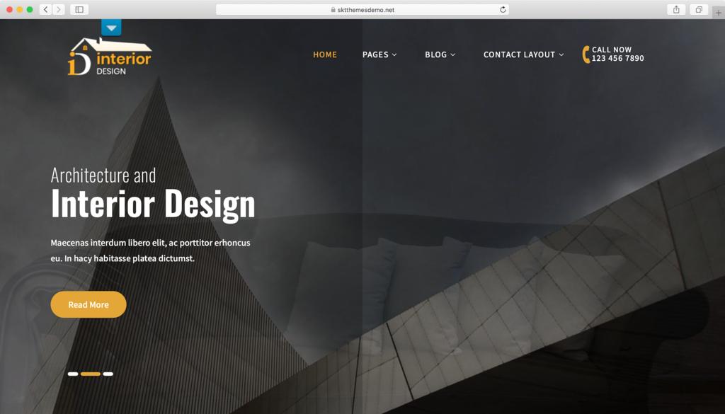 Thème WordPress Interior Lite.
