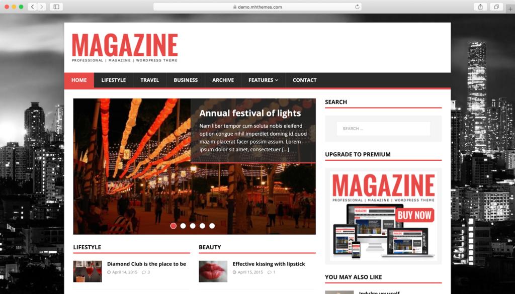Thème WordPress MH Magazine Lite.