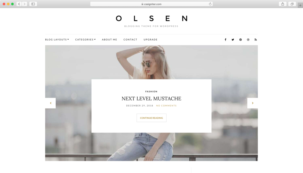 Thème WordPress Olsen Light.