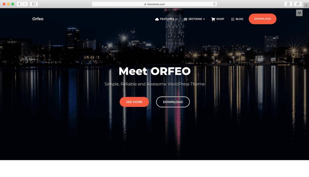 Thème WordPress Orfeo.