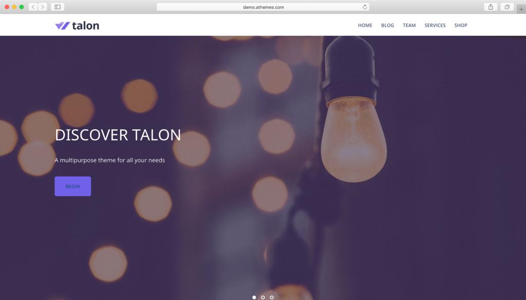 Thème WordPress Talon.