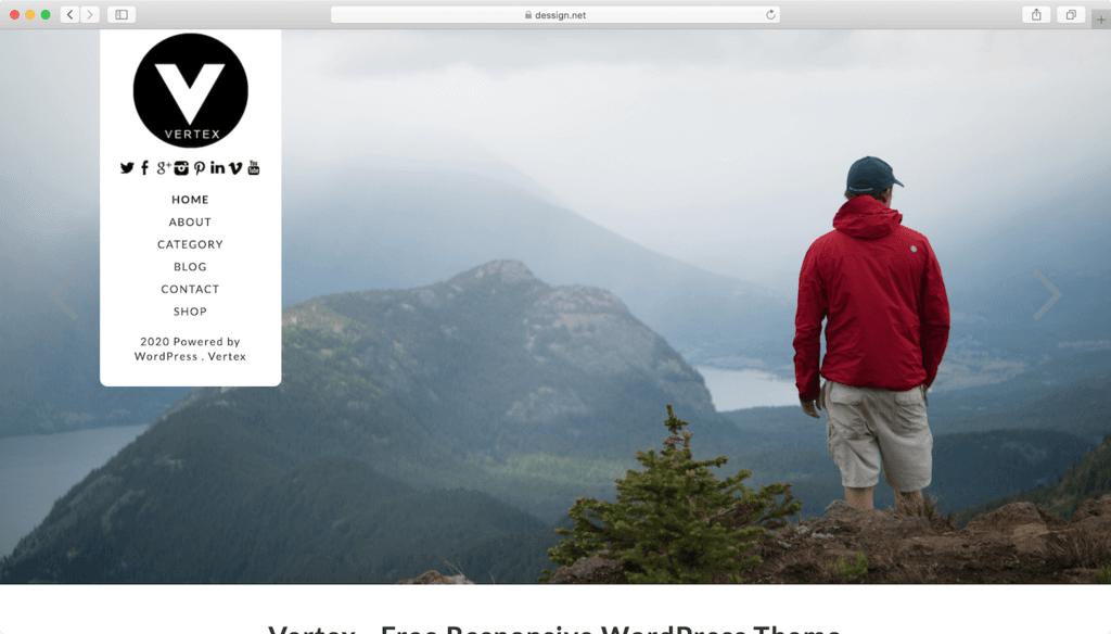 Thème WordPress Vertex.