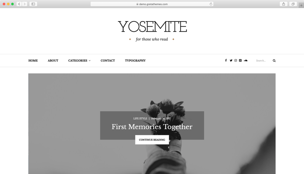 Thème WordPress Yosemite Lite.