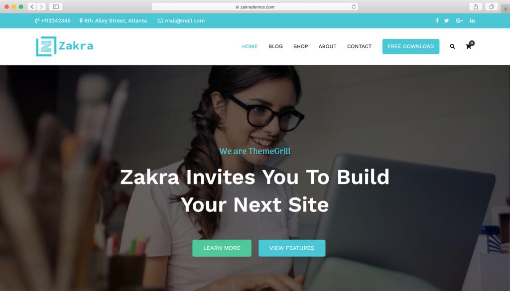 Thème WordPress Zakra.