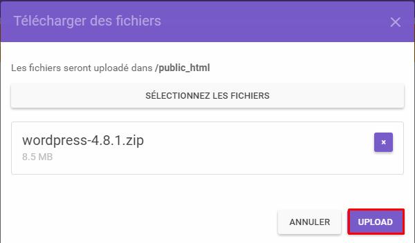 upload fichier