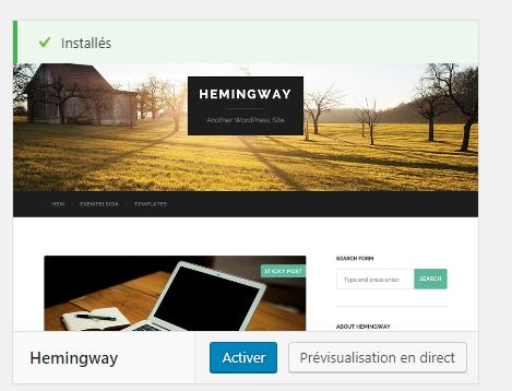 hemingway wordpress