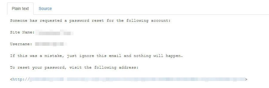 restaurer email