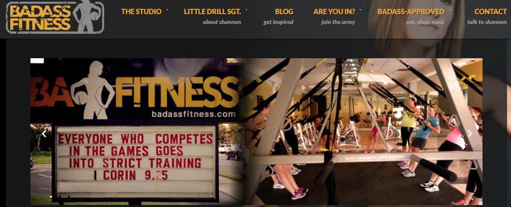 Exemple de blog de fitness