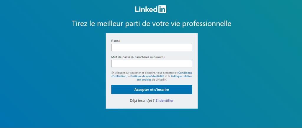 Accueil LinkedIn