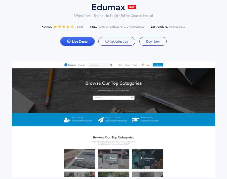 Page du thème Edumax