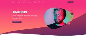 Capture du site de plateforme freelance 404 works
