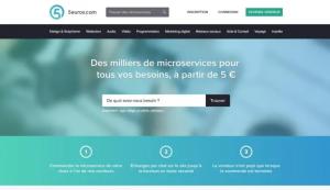 Capture du site de plateforme freelance 5 euros