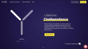 Capture du site de plateforme freelance Yoss